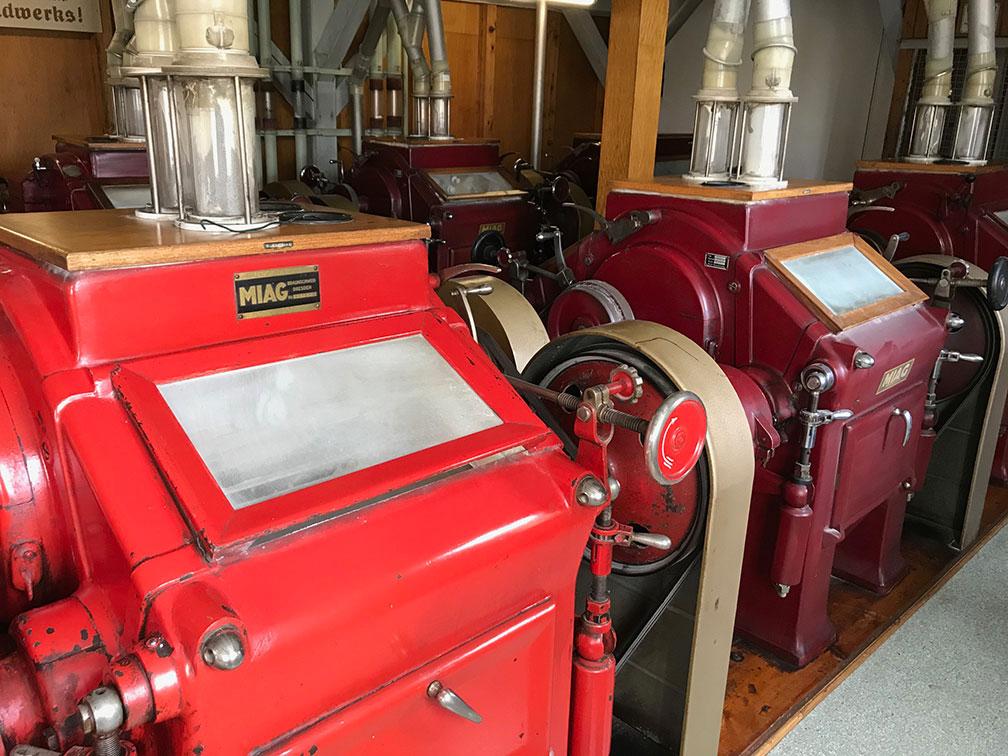 Mühle Heuchlingen - Walzenstühle in Heuchlingen